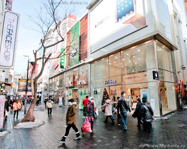 Улочка для любителей шоппинга в Сеуле